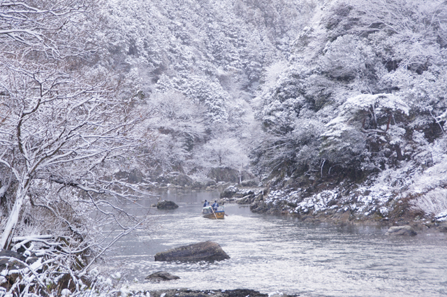 保津川下りの景色