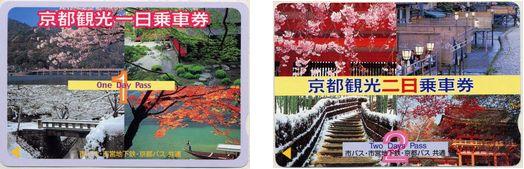 京都のフリー乗車券
